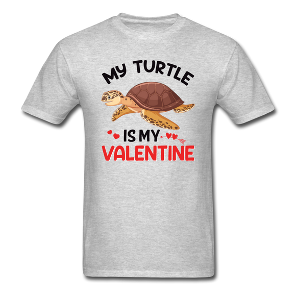 My Turtle Is My Valentine v1 - Unisex Classic T-Shirt - heather gray