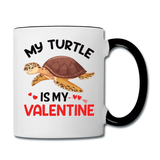 My Turtle Is My Valentine v1 - Contrast Coffee Mug - white/black