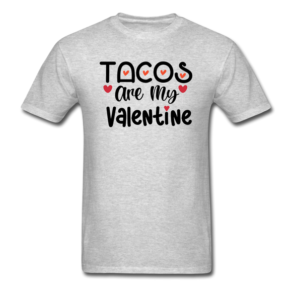 Tacos Are My Valentine v1 - Unisex Classic T-Shirt - heather gray