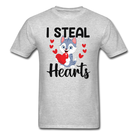 I Steal Hearts v1 - Unisex Classic T-Shirt - heather gray