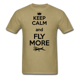 Keep Calm And Fly More - Black - Unisex Classic T-Shirt - khaki