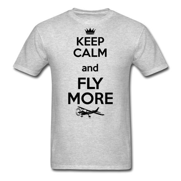 Keep Calm And Fly More - Black - Unisex Classic T-Shirt - heather gray
