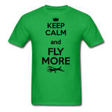 Keep Calm And Fly More - Black - Unisex Classic T-Shirt - bright green