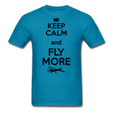 Keep Calm And Fly More - Black - Unisex Classic T-Shirt - turquoise