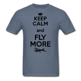 Keep Calm And Fly More - Black - Unisex Classic T-Shirt - denim