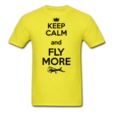 Keep Calm And Fly More - Black - Unisex Classic T-Shirt - yellow