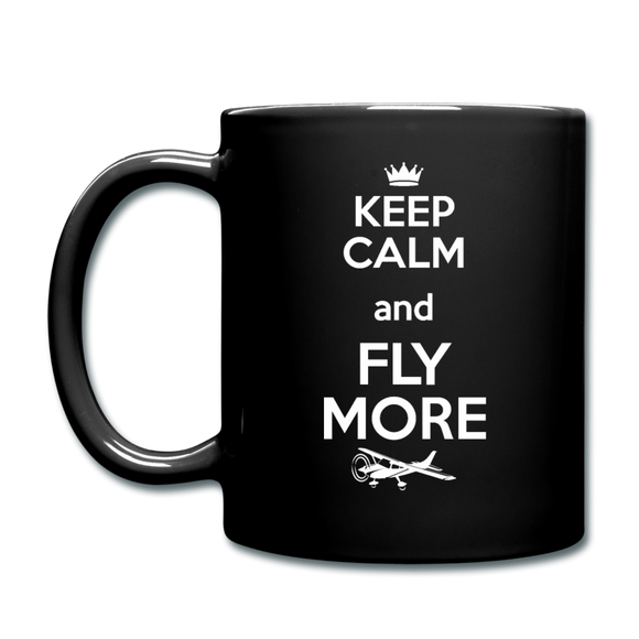Keep Calm And Fly More - White - Full Color Mug - black