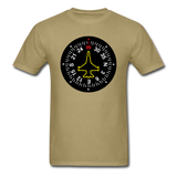 Fighter Jet Compass - Unisex Classic T-Shirt - khaki
