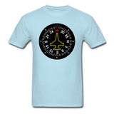 Fighter Jet Compass - Unisex Classic T-Shirt - powder blue