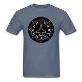 Fighter Jet Compass - Unisex Classic T-Shirt - denim