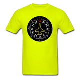 Fighter Jet Compass - Unisex Classic T-Shirt - safety green