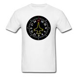 Fighter Jet Compass - Unisex Classic T-Shirt - white