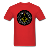 Fighter Jet Compass - Unisex Classic T-Shirt - red