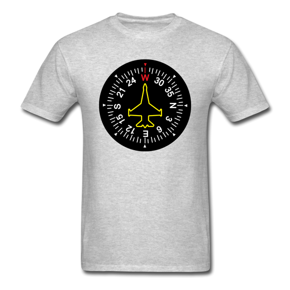 Fighter Jet Compass - Unisex Classic T-Shirt - heather gray