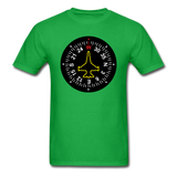 Fighter Jet Compass - Unisex Classic T-Shirt - bright green