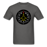 Fighter Jet Compass - Unisex Classic T-Shirt - charcoal