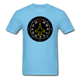 Fighter Jet Compass - Unisex Classic T-Shirt - aquatic blue