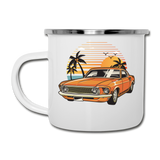 Mustang On The Beach - Camper Mug - white