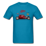 Hot Rod - Side View - Unisex Classic T-Shirt - turquoise