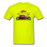 Hot Rod - Side View - Unisex Classic T-Shirt - safety green