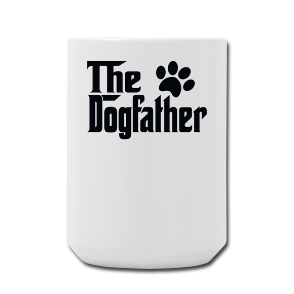 The Dogfather - Black - Coffee/Tea Mug 15 oz - white