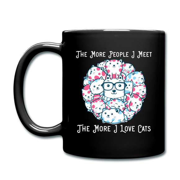 The More People I Meet - Cats - White - Full Color Mug - black