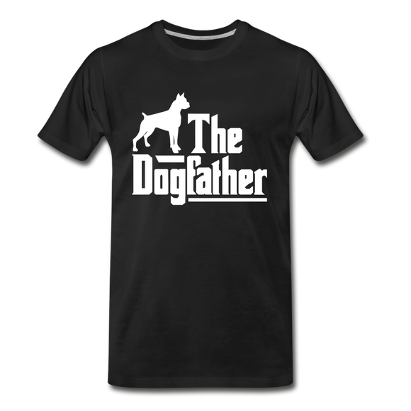 The Dog Father - White - Men's Premium T-Shirt - black
