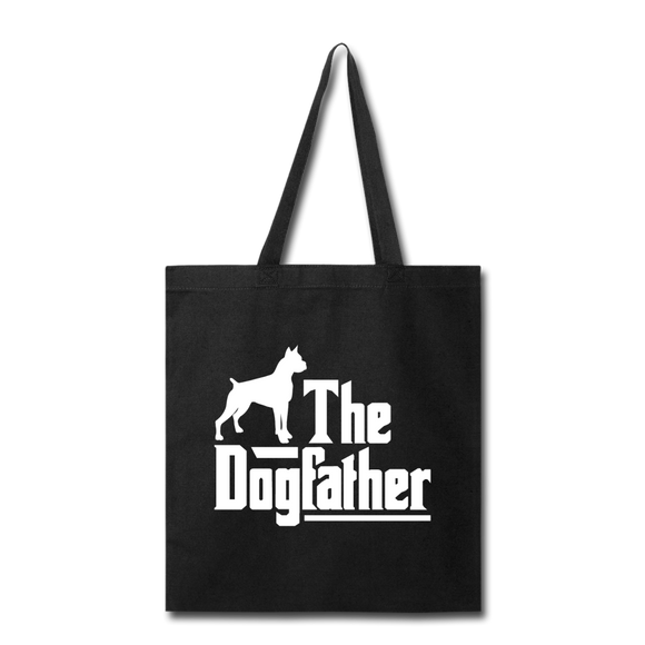The Dog Father - White - Tote Bag - black