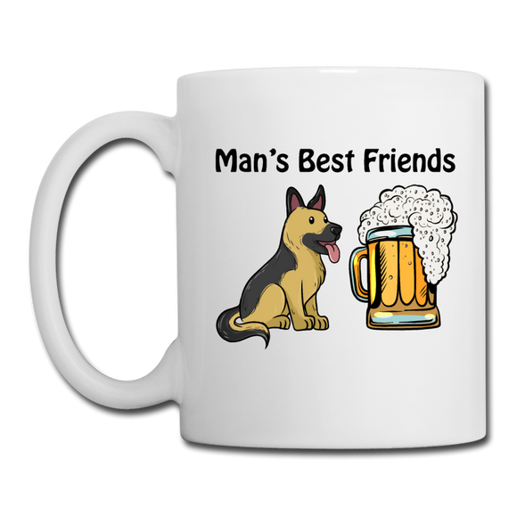 Best Friends - Dogs And Beer - Coffee/Tea Mug - white