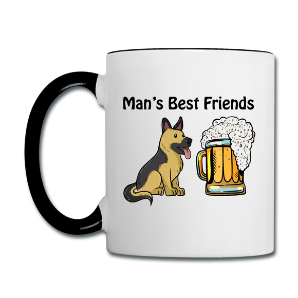 Best Friends - Dogs And Beer - Contrast Coffee Mug - white/black