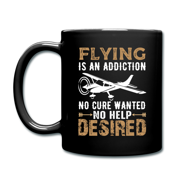 Flying Is An Addiction - Full Color Mug - black