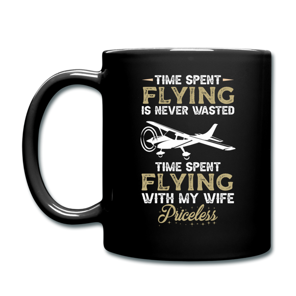 Time Spent Flying - Wife - Full Color Mug - black