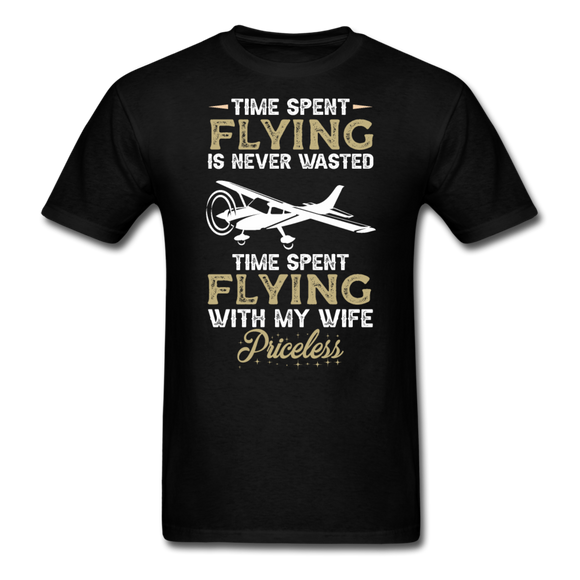 Time Spent Flying - Wife - Unisex Classic T-Shirt - black