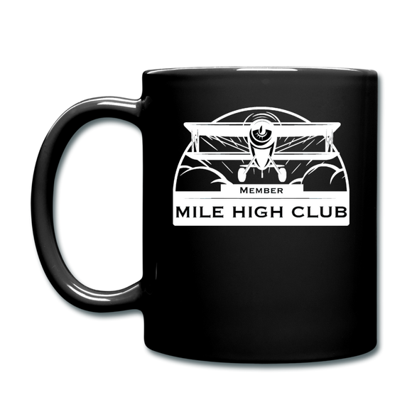 Mile High Club - Biplane - White - Full Color Mug - black