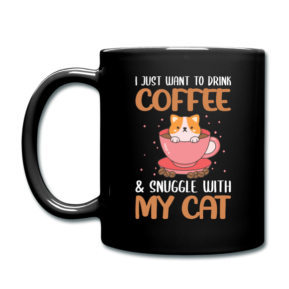 Drink Coffee And Cat - Full Color Mug - black