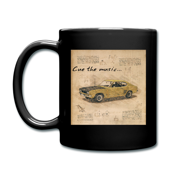 Cue The Music - Full Color Mug - black