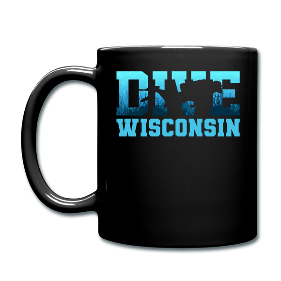Dive Wisconsin - Full Color Mug - black