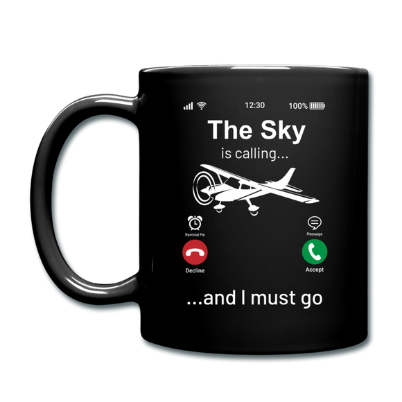 Sky Is Calling - Full Color Mug - black