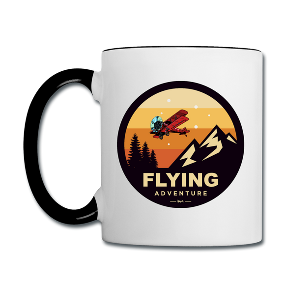 Flying Adventure - Contrast Coffee Mug - white/black