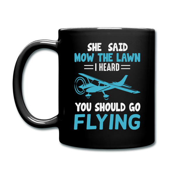Should Go Flying - Full Color Mug - black