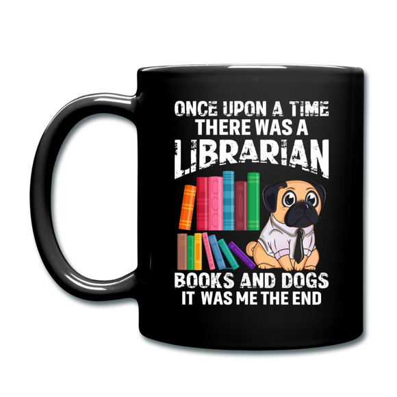 Librarian - Books And Dogs - Full Color Mug - black