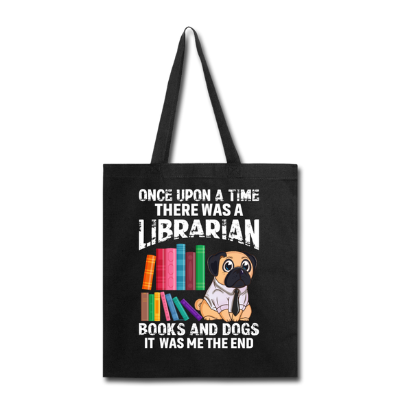 Librarian - Books And Dogs - Tote Bag - black