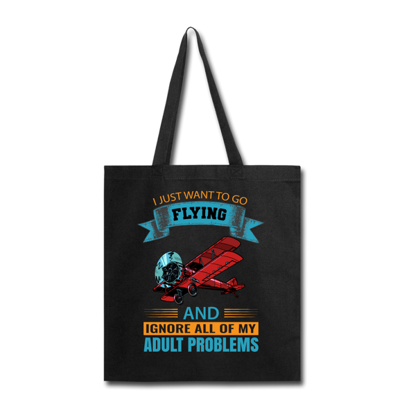 Want To Go Flying - Tote Bag - black