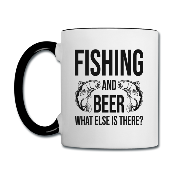 Fishing And Beer - Black - Contrast Coffee Mug - white/black