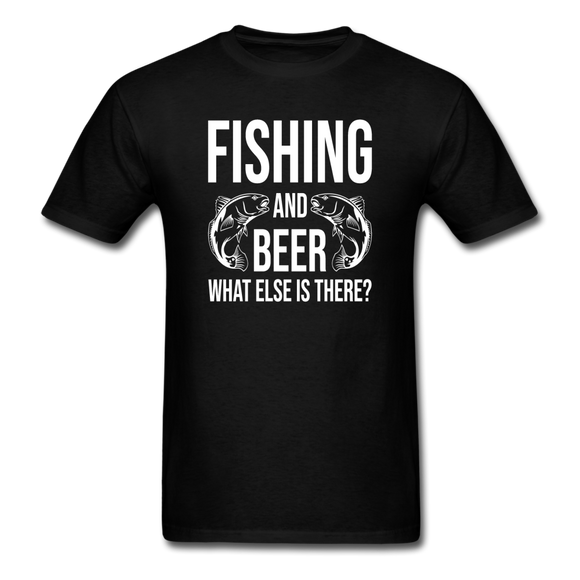 Fishing And Beer - White - Unisex Classic T-Shirt - black