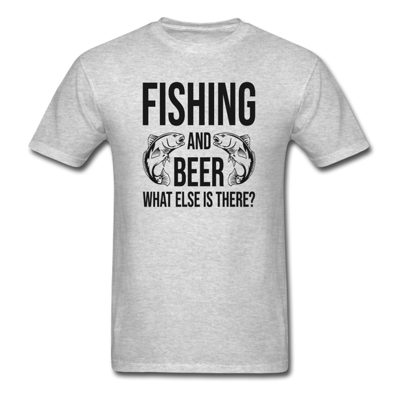 Fishing And Beer - Black - Unisex Classic T-Shirt - heather gray