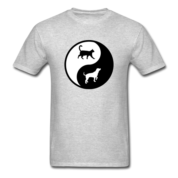 Yin And Yang - Cat And Dog - Unisex Classic T-Shirt - heather gray
