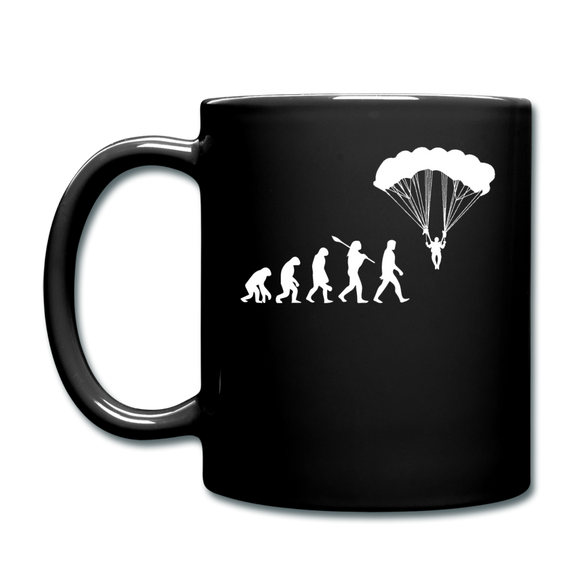 Skydiving Evolution - Full Color Mug - black