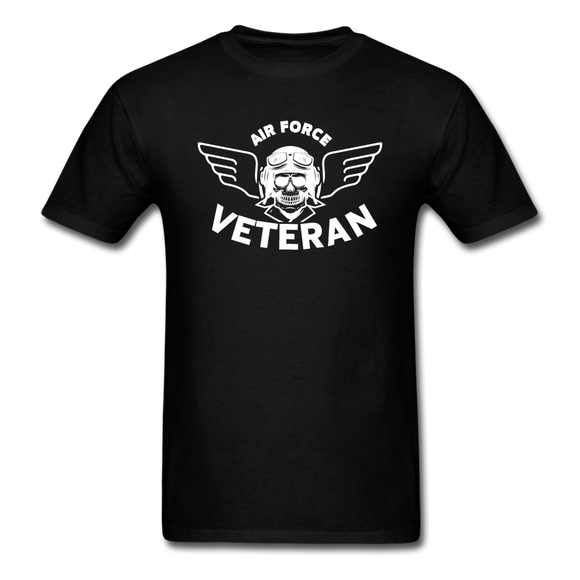 Air Force Veteran - Skull - White - Unisex Classic T-Shirt - black