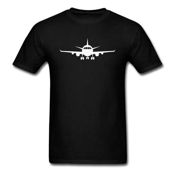 Airliner - Front - White - Unisex Classic T-Shirt - black